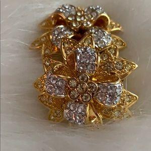 Kenneth Jay Lane Jewelry - Vintage K.J.L. Gold Tone Bow Earrings